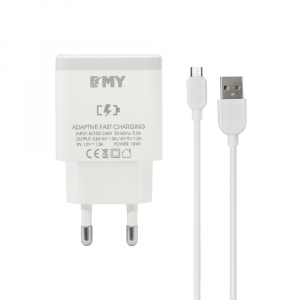 EMY Dual USB Travel Charger 2.4A MYA202