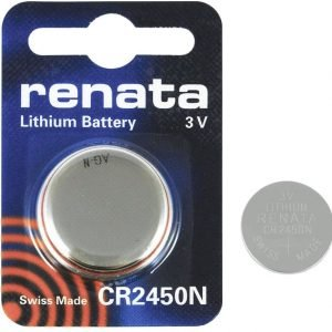 Renata CR2450N Lithium 540mAh Battery 3V Cell Coin Button Watch Batteries