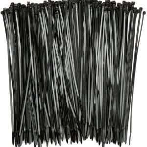 H&S 150pcs Cable Ties Black 250mm