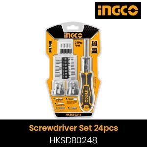 Ingco 24 Pcs in 1 Screwdriver set- HKSDB0248