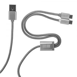 2B (DC134) – Dual Micro USB Cable from USB to Two Micro USB 5 Pin-1M