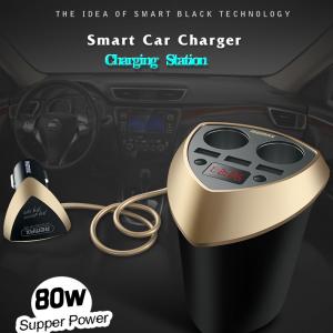 Remax Alien series 5V 3USB Port Smart Car Charger LED Indicator CR-3XP