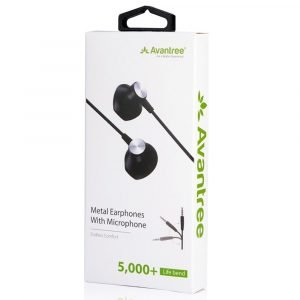 Avantree Endless Comfort Metal Earphones With Microphone – ADHF-035 – Black