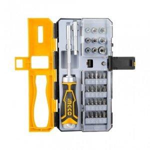 Ingco Screwdriver Set Ratchet Hand 33 Pcs HKSDB0338