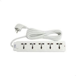 Gigamax MTS-1105 Power Strip, 5 Sockets – 2500 Watts