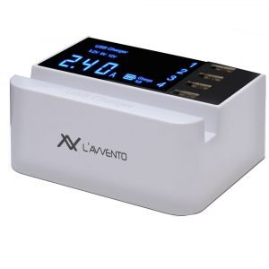 L'avvento 4 USB Ports 3.5A Travel Charger with LCD Screen