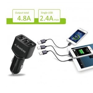 Avantree Car Charger 3-Port 4.8A Rapid USB