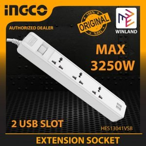Ingco Power Strip – 3 Socket