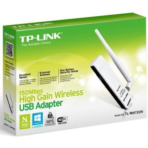 Tp-Link 150Mbps High Gain Wireless USB Adapter – TL-WN722N